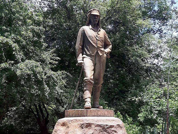 Livingstone Denkmal in Victoria Falls Simbabwe.