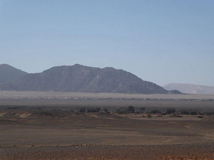 Auf der Fahrt zur Sossusvlei. Namibia