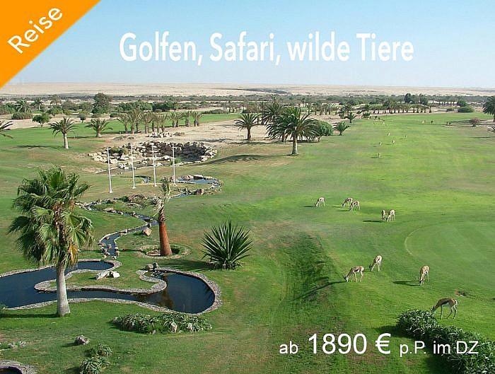 Golfen unter Afrikas Sonne.
