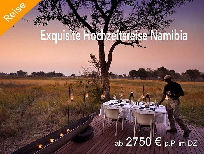 Exquisite Hochzeitsreise durch Namibia